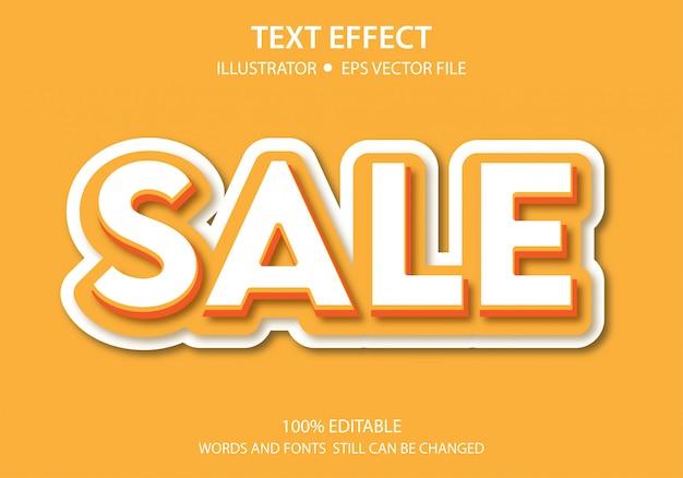 Venda de efeito de estilo de texto editável