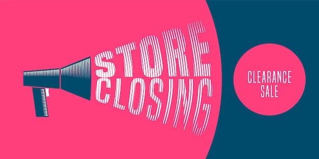 Venda de fechamento de loja, banner