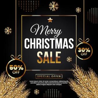 Venda de feliz natal com oferta especial