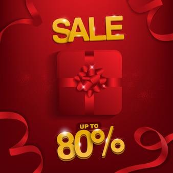 Venda de festa, venda até 80%, fundo de venda para promoção.