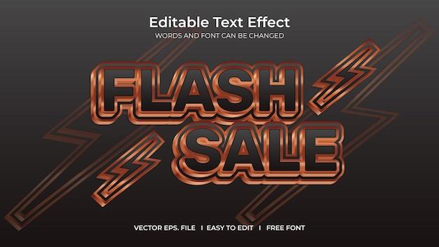 Venda de flash de efeito de texto