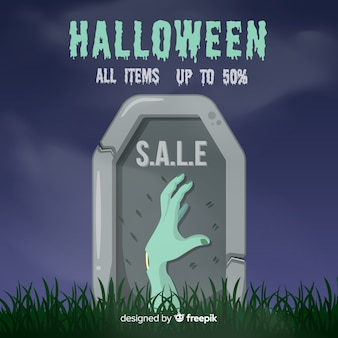 Venda de halloween de mão de zumbi
