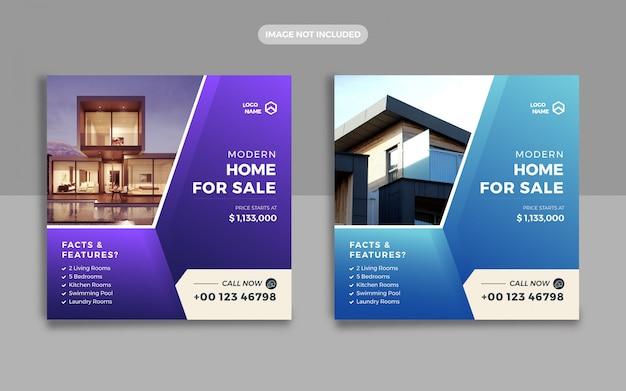 Venda de imóveis em casa e web banner