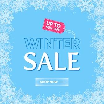 Venda de inverno design plano