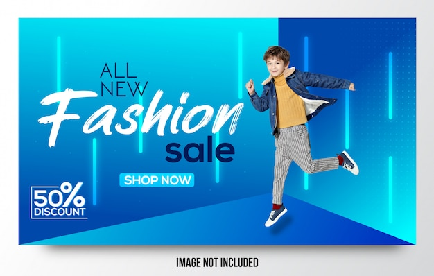 Venda de moda elegante oferta moderna banner design