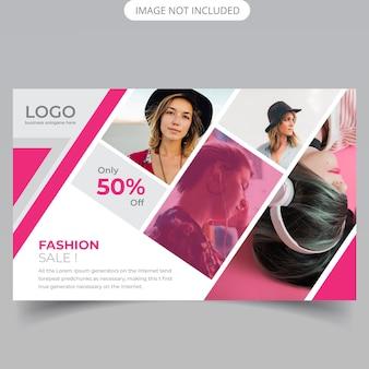 Venda de moda flyer horizontal