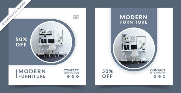 Venda de móveis para banner de mídia social ou modelo de postagem do instagram