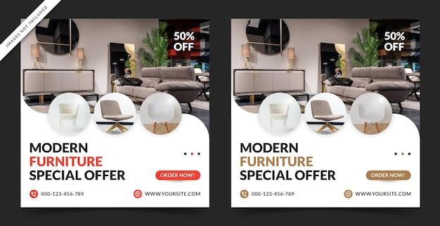 Venda de móveis para banner de mídia social ou postagem no instagram