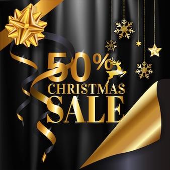 Venda de natal 50% banner design