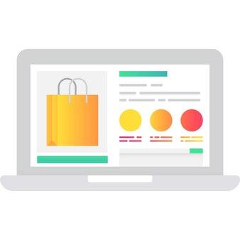 Venda de natal em vetor de ícone de loja online isolado