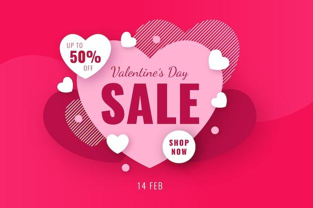 Venda de oferta especial de coração dia dos namorados