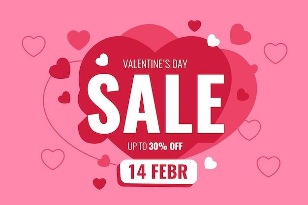 Venda de oferta especial de dia dos namorados romântico