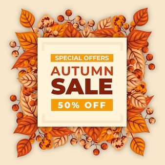 Venda de outono desenhada à mão