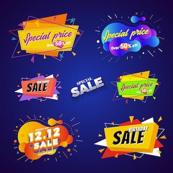 Venda de preço especial banner design abstrato
