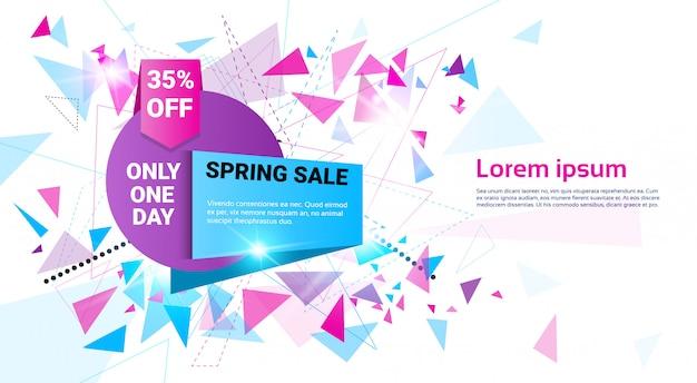 Venda de primavera comercial oferta especial holiday banner