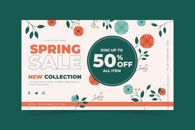 Venda de primavera de design plano
