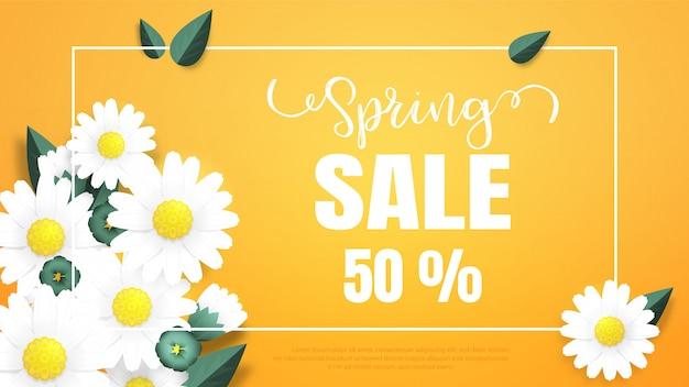 Venda de primavera de ilustração para sites de publicidade e web
