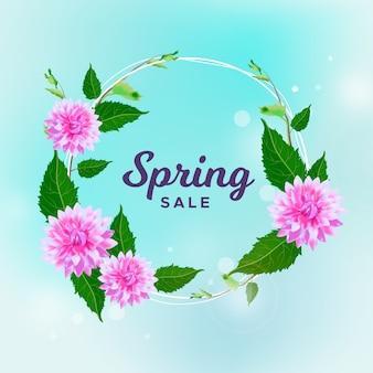 Venda de primavera em design realista