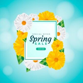 Venda de primavera realista