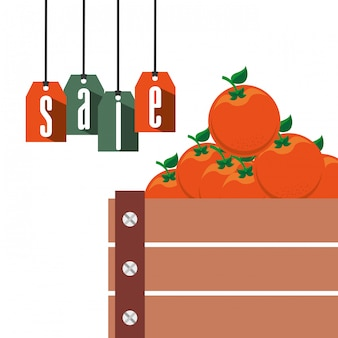 Venda de produtos agrícolas
