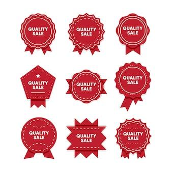 Venda de qualidade. conjunto de emblemas vermelhos de qualidade premium