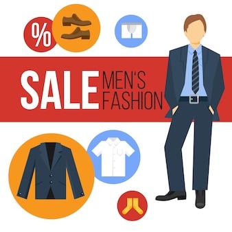 Venda de roupas de moda masculina