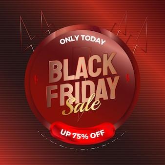 Venda de sexta-feira negra elegante para modelo de banner de publicidade