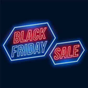 Venda de sexta-feira negra em estilo neon