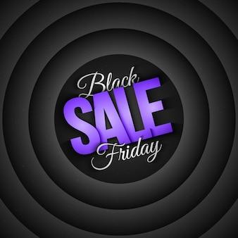 Venda de sexta-feira negra em estilo retro e vintage, fundo abstrato 3d