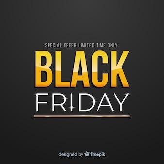 Venda de sexta-feira negra preto e fundo dourado