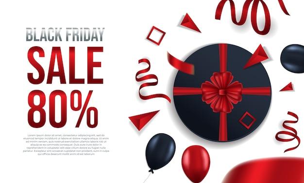 Venda de sexta-feira preta 80% poster
