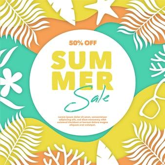 Venda de verão banner colorido