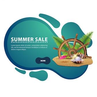 Venda de verão, banner de web de desconto criativo moderno para o seu site