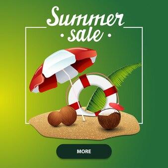 Venda de verão, banner web quadrados para seu site