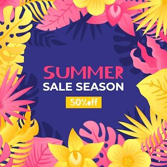 Venda de verão estilo colorido