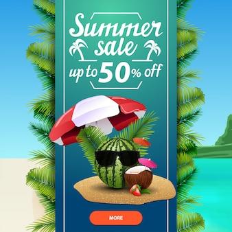 Venda de verão, modelo de banner web desconto quadrados para o seu negócio