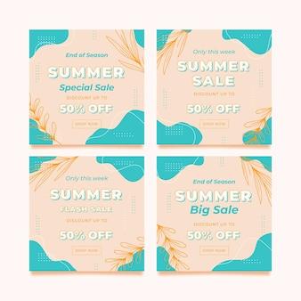 Venda de verão modelo de postagem no instagram
