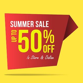 Venda de verão oferece banner design