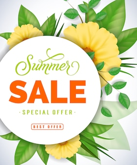 Venda de verão oferta especial melhor rotulação de oferta.