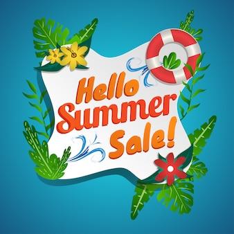 Venda de verão social media banner design fresco