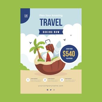 Venda de viagens - folheto ilustrado