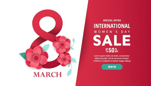 Venda do dia internacional da mulher