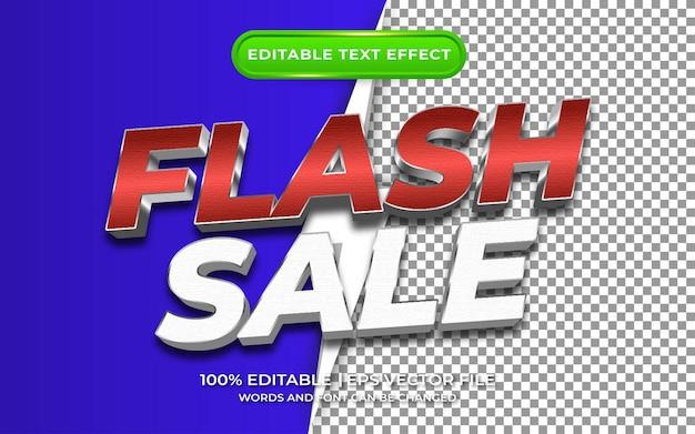 Venda em flash com estilo de modelo de efeito de texto editável de fundo transparente