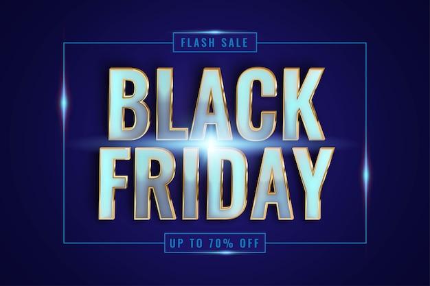 Venda especial da black friday com tema de efeitos