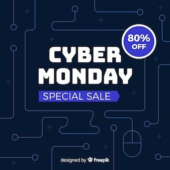 Venda especial de cyber segunda-feira plana