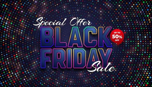 Venda especial de sexta-feira negra com até 50% de desconto