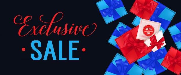 Venda exclusiva lettering com caixas de presente