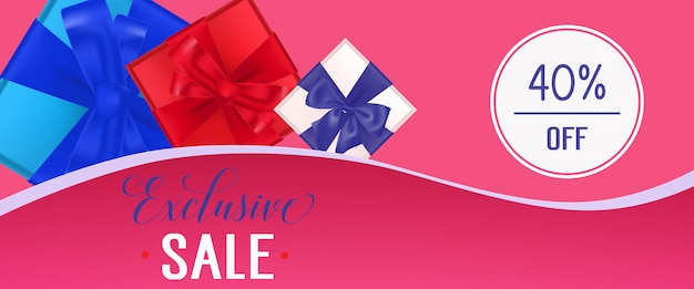 Venda exclusiva pink banner design