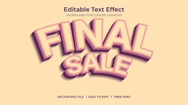 Venda final de efeito de texto