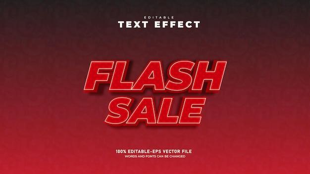Venda flash 3d modelo de efeito de texto vetor premium